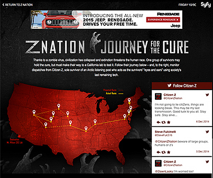 Responsive front end developed for Z Nation promotional site.